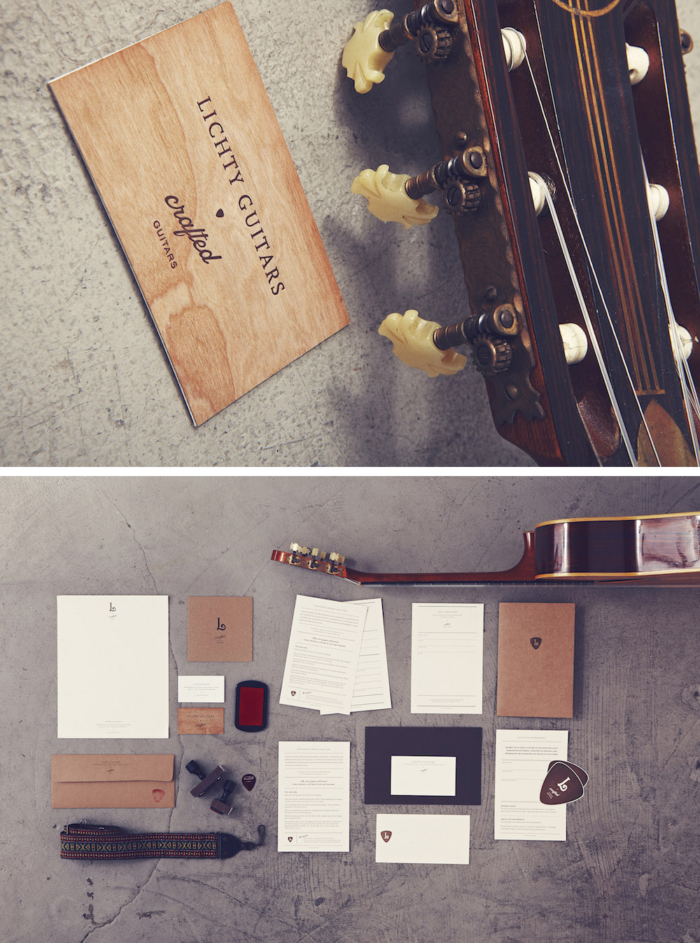 Lichty Guitars Identity by Stitch Design Co.